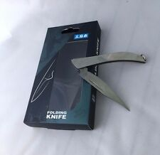 Sanrenmu Folding Pocket Knife Mini C142 With Key Ring Stanless Steel Color