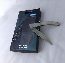 Sanrenmu Folding Pocket Knife Mini C142 With Key Ring Stanless Steel Color