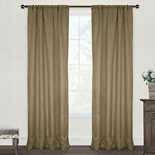 Country Curtains Set of 2 Fully Lined Beige Embroidered Curtain Panels Sz 48x84
