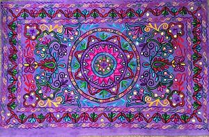 Indian Wall Hanging Tapestry Hippie Bohemian Tapestries Suzani Home Decor Purple