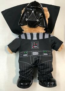 """16"""" Brown Build-A-Bear Star Wars With Darth Vader Outfit Mask Shoes No Saber"""