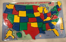 New listing U.S.A. Magnetic Puzzle Map Geography Smarty Toys Portable 18x11� #1209 Age 6+