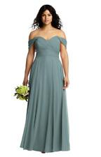 DESSY 2970 SIZE 26 IN ICELANDIC SHIMMER BRIDESMAID DRESS BNWT