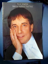 PAUL SIMON  BORN AT THE RIGHT TIME TOUR 1991 TOUR PROGRAMME + 2 ticket stubs