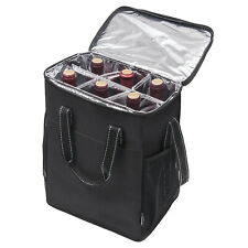 Kato 6 Bottle Insulated Wine Carrier Bag Best Large Travel Cooler Totes