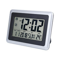 Desk Wall Clock 12/24H Temperature Large Digits Display Alarm Clock Home Office