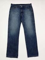 Cotton star jeans uomo usato W40 tg 54 gamba dritta blu denim boyfriend T6769