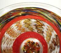 HAND BLOWN GLASS BOWL, DIRWOOD, COMPLEX INCALMO CANE & GOLD SPARKLES, n3476