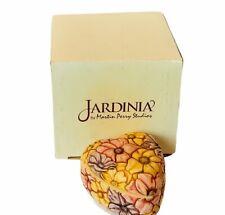 Harmony Kingdom Jardinia heart shape jewelry box figurine Nob box floral flower