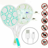 Electric Bug Zapper Racket Mosquito Fly Swatter Killer Insects Bat Handheld