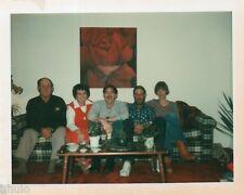 POL633 Polaroid Photo Vintage Original famille cadre avec Rose canapé
