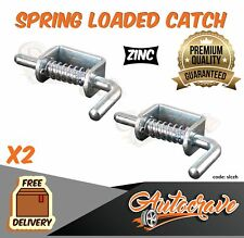 2x Spring Loaded Tailgate Latches Fastener Lock Suit Truck Trailer