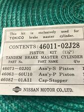 Nissan Patrol Y60 Tokico 1-1/16 Brake Master Cylinder Kit New