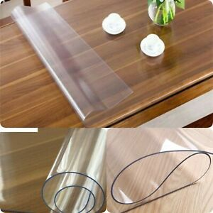 Transparent PVC tablecloth, table film 1.5 mm, table protector