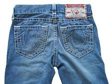 True Religion Bobby Super T Stitch Destroyed Jeans Hose Denim 30