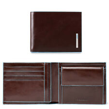 Piquadro Leather Wallet with coin pocket - Style: PU4188 - Mahogany BNWT