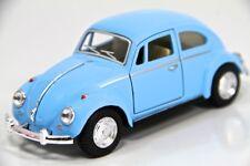 "5"" Kinsmart 1967 VW Volkswagen Beetle Diecast Model Toy Car 1:32 Pastel Blue"
