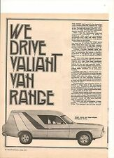 ORIGINAL VINTAGE 1977 VALIANT PANEL VAN RANGE AUSTRALIAN 3 PAGE FEATURE- DRIFTER