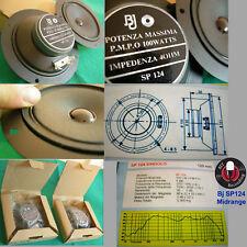 4 (quattro) MIDRANGE a CONO BJ SP124 10cm 4 Ohm *Chiusi posteriormente*