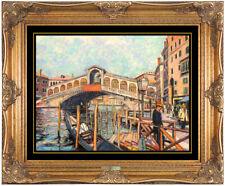 H. Claude Pissarro Original Pastel Painting Signed Italian Landscape Cityscape