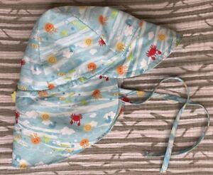 Iplay Toddler Beach Hat Neck Flap Chin Tie Adjustable 2T-4T UPF 50+