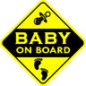 Baby On Board SELF-ADHESIVE VINYL STICKER Child Boy Car Sign Window Safety +