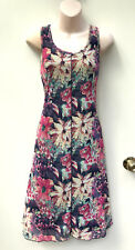 FLOWER Brand Stretchy Mesh Floral Long Tank Dress sz 10 NWT Rrp $120.00