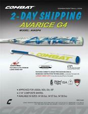 "Combat Avarice G4 USSSA Slow Pitch Softball Bat AVASP4 34"" / 26.5 oz >2-DAY SHIP"