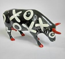 Cowparade Hugs Smooches Cow #9176 Westland Giftware XOXO Red Horns Hooves