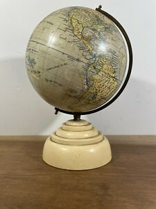 Vintage Art Deco Geographia Ltd, 8 Inch Terrestrial Globe
