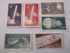 1961 Czechoslovakia Space Research mint no gum Mi.1249/54.A7C2