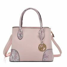 Ladies PINK Tote Bag With Handle And Bottom Sequins Design UK