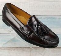 Cole Haan Men's Pinch Tassel Leather Burgundy Slip on Loafers Sz 8.5 D 03507
