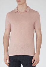 BNWT Reiss Men's Kingsley Open Collar Pink Polo Size M RRP £49