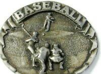 Baseball Belt Buckle Vintage Bergamot Brass Works Heavy Brass 1977
