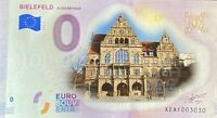 BILLET 0  EURO BIELFELD ALTES RATHAUS ALLEMAGNE COULEUR   2018  NUMERO DIVERS