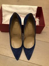 ROGER VIVIER Colbat blue Court Shoes Heels Size UK 5.5 Eur 38.5
