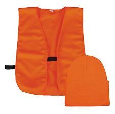 CAP - WATCH CAP HAT & SAFETY VEST COMBO BLAZE ORANGE BLZKVST ADULT