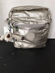 Kipling Livie Crossbody Bag Cloud Grey Metallic/silver