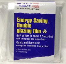 6sq meter WINDOW INSULATION KIT SHRINK FIT DOUBLE GLAZING FILM  FROST COLD UK