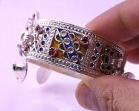 """NBALA"" bracelet amazigh émaille artisanat maroc - berber bracelet craft Morocco"