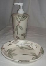 Ceramic Hand Painted Soap Pump & Soap Dish