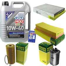 Inspection Kit Filter Liqui Moly Oil 5L 10W-40 for VW Caddy II Combi 9K9B 1.9 S.