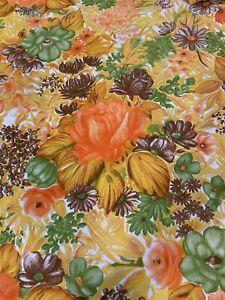 Unused VTG Twin Flat Sheet Long Dan River Cotton/Poly Floral No-Iron Muslin MCM