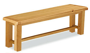 Oakvale Small Dining Bench / Solid Wood Indoor Seating / 2 - 3 Seater 118cm Wide