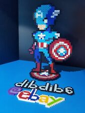 Captain America marvel perler art hama rave kandi edm edc plur bead