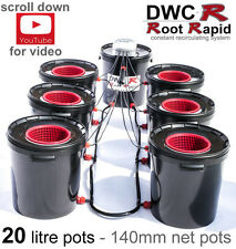 6 POT DWC R Root Rapid DEEP WATER CULTURE Bubble Oxy Hydroponics System  alien