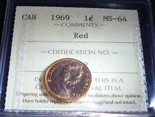HIGH GRADE 1969 ONE CENT  ICCS GRADED