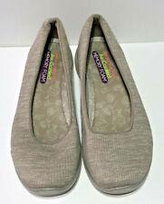 Skechers Women's Microburst Beige Slip On Shoe   Size 9.5B