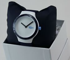 NEW AUTHENTIC LACOSTE GOA BLUE NAVY WHITE SILICONE UNISEX 2020123 WATCH